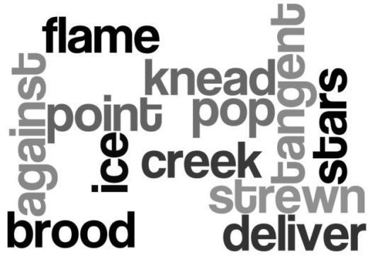 Wordle #89, The Sunday Whirl, December 30, 2013