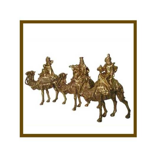 Set of 3 wise men on camels in a beautiful gold finish. 3 Wise Men<br /><br /><br /><br /><br /> jinglebells.com.au