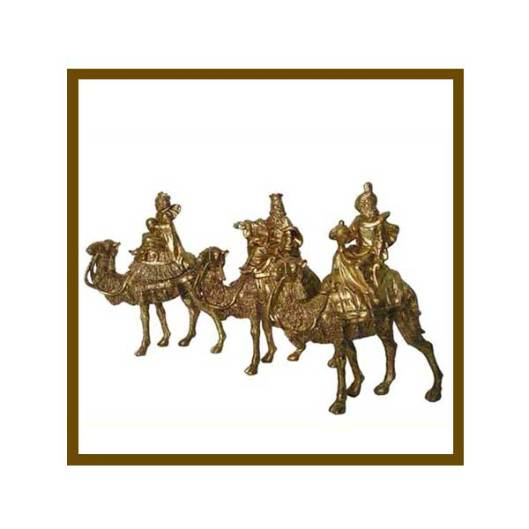 Set of 3 wise men on camels in a beautiful gold finish. 3 Wise Men ...
