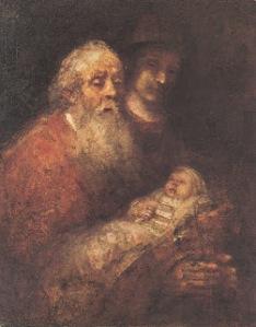 Simeon & Jesus by Rembrandt