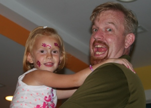 Zoë Alyson Calhoun, Age 5 with her Daddy, Matthew Tohline Calhoun, now age 36!